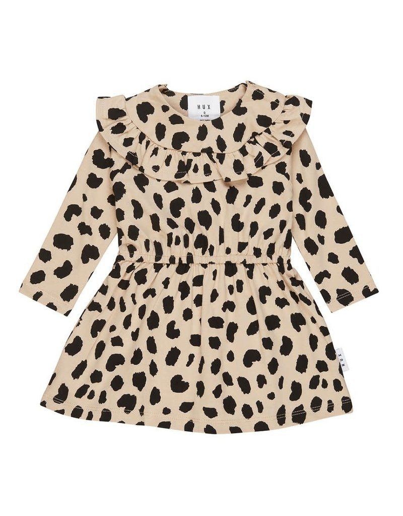 HuxBaby Animal Spot Long Sleeve Dress