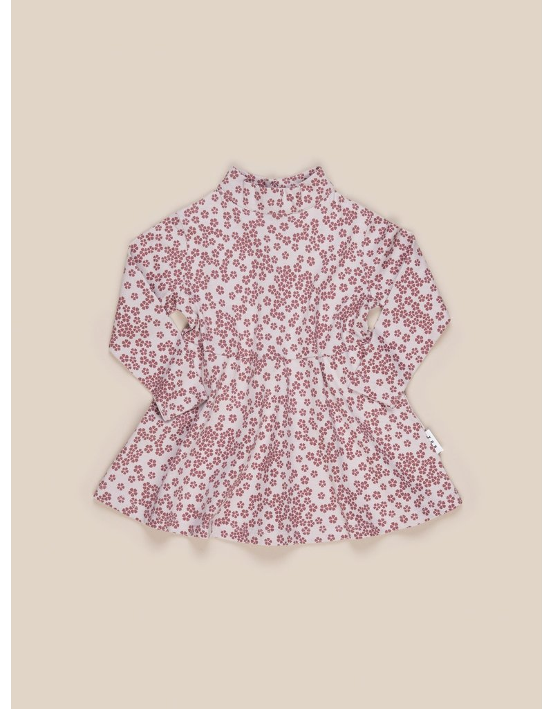HuxBaby Floral High Neck Dress