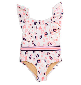 Shade Critters One Piece Ruffle Shoulder Swimsuit