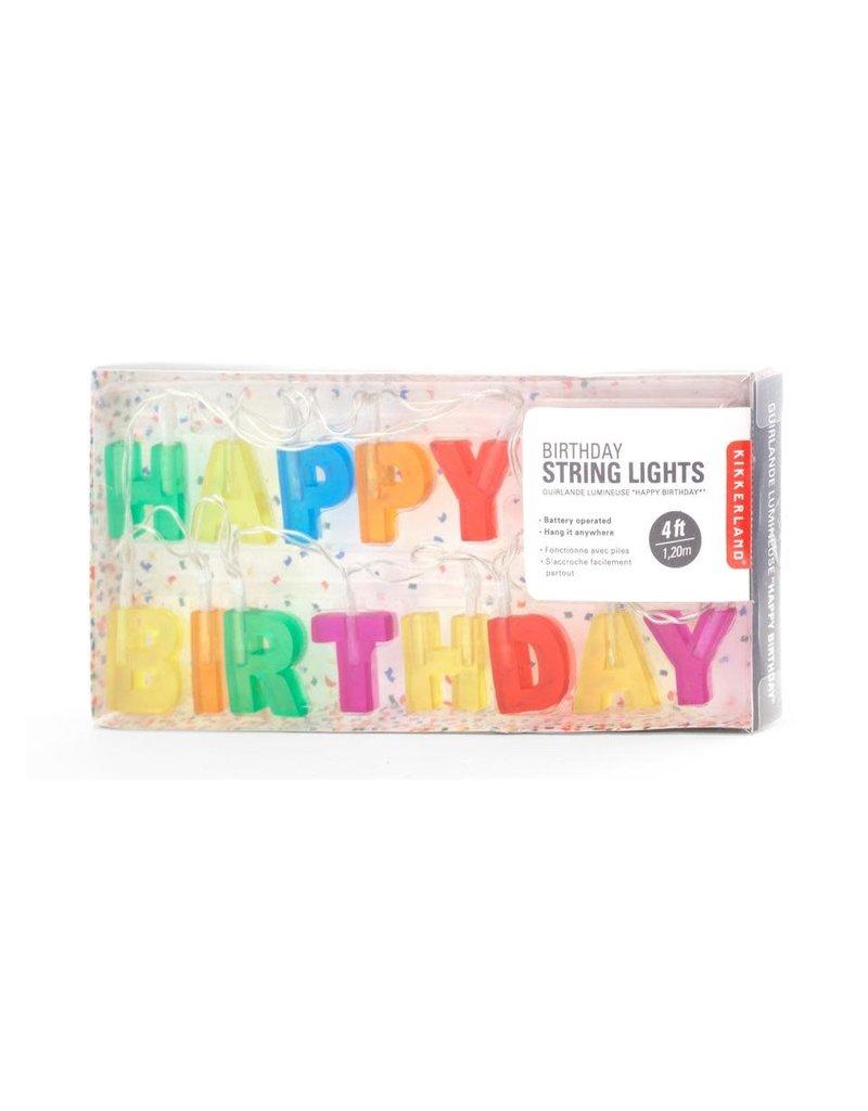 Kikkerland Designs Happy Birthday Lights