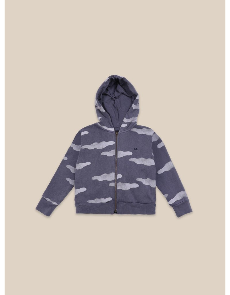 bobo choses Clouds All Over Zipped Hoodie