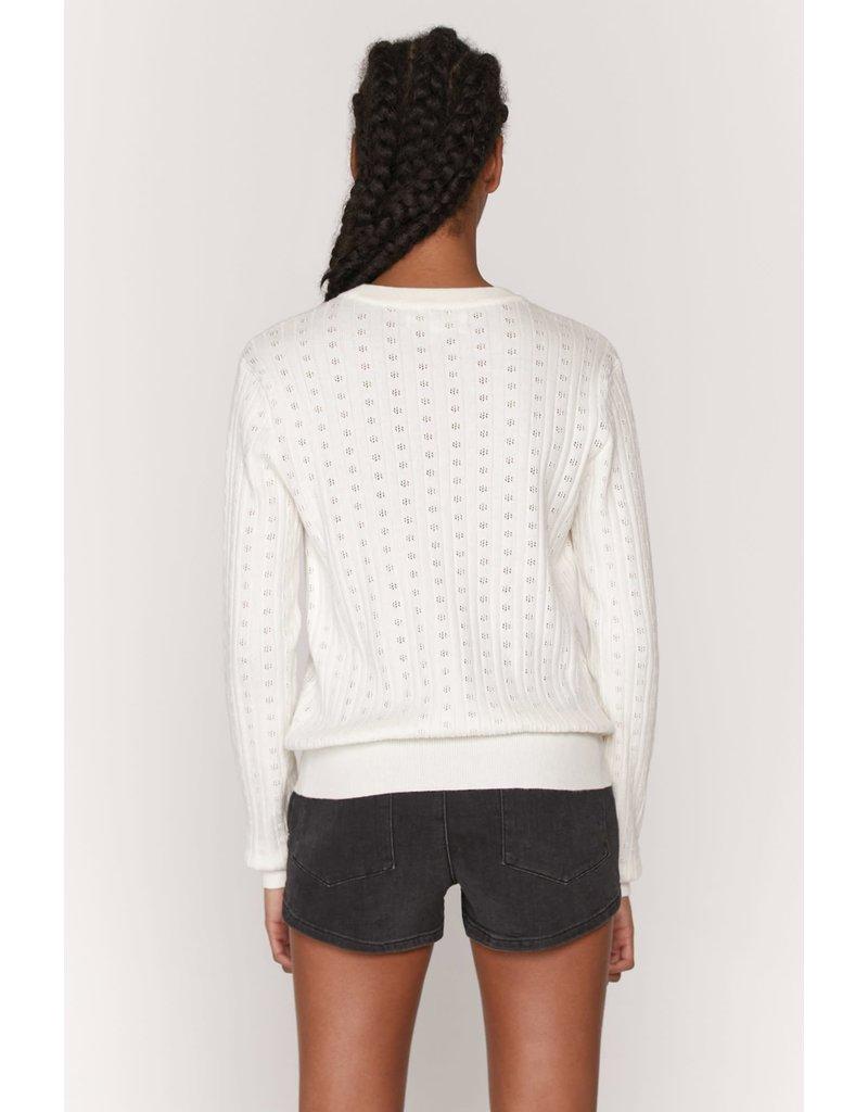 Spiritual Gangster Nikki Pointelle Crop Sweater