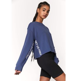 Spiritual Gangster Love Will Set Us Free Mazzy Crop Sweatshirt