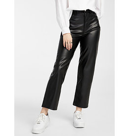 Levis Faux Leather Ribcage Straight Leg 37195-0000