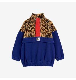 MiniRodini Leopard Fleece Zip Pullover