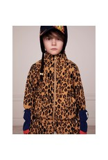 MiniRodini Leopard Fleece Jacket