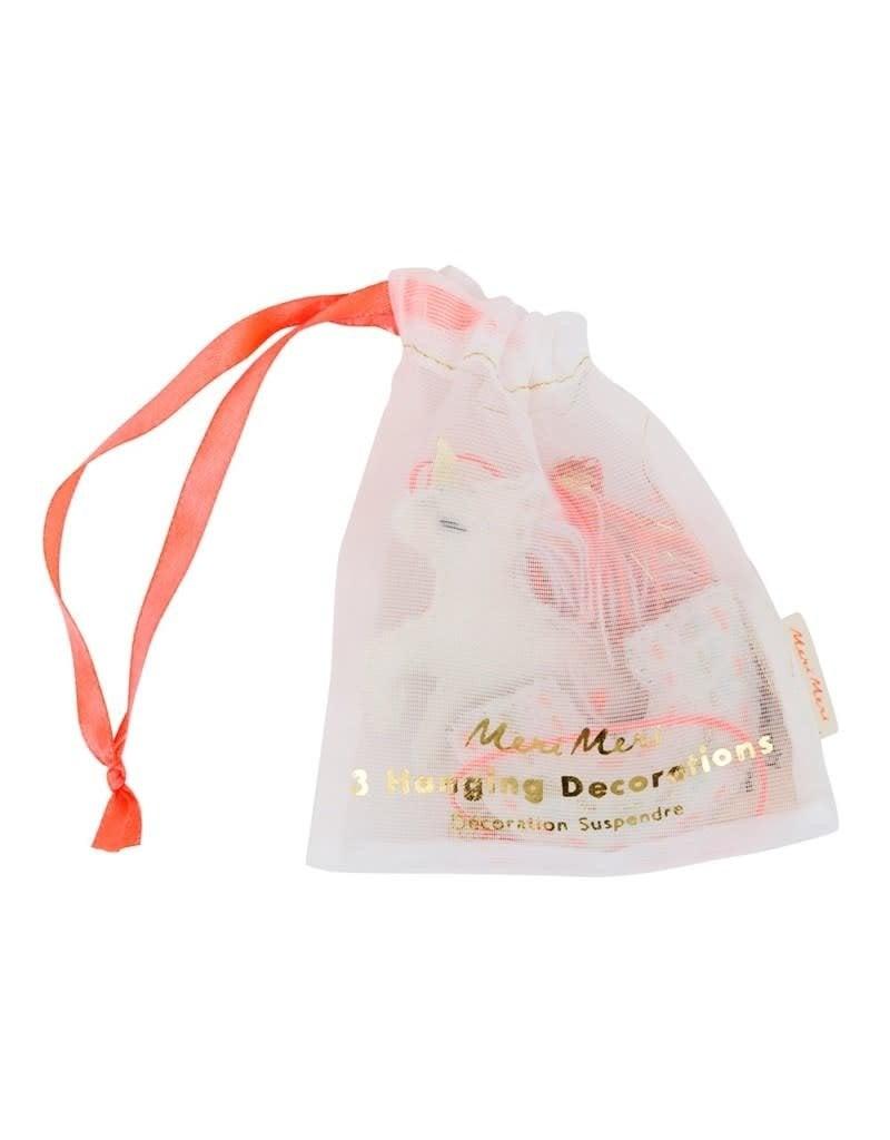 Meri Meri Mini Unicorn Fabric Decorations
