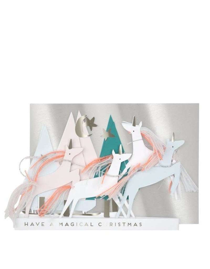 Meri Meri Unicorn Christmas Card