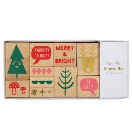 Meri Meri Jolly Rubber Stamp Set