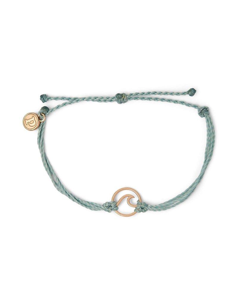 Pura Vida Bracelets Rose Gold Wave Charm Bracelet