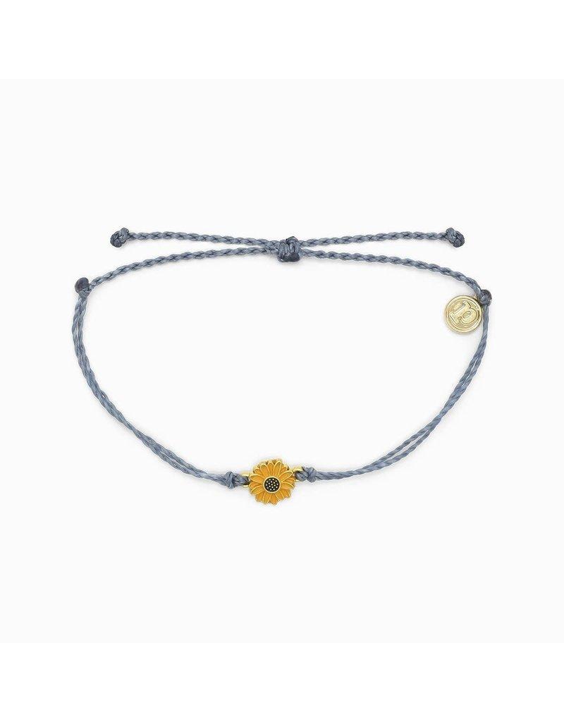 Pura Vida Bracelets Gold Enamel Sunflower Bracelet