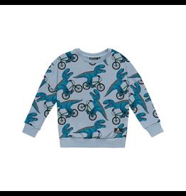Rock Your Baby Dino Bike Baby Sweatshirt