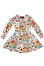 Rock Your Baby World Peace Long Sleeve Dress