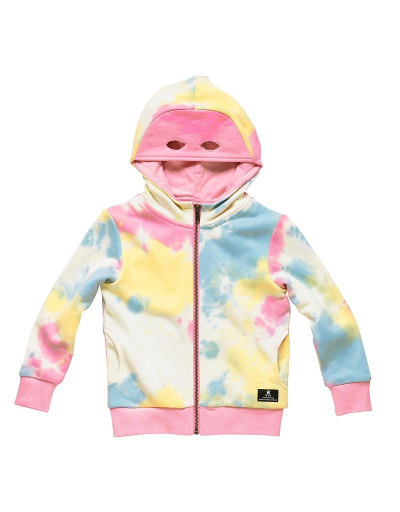 Rock Your Baby Masked Hooded Zip Sweater