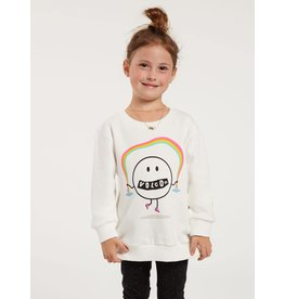 VOLCOM Little Girls Darting Traffic Crew Fleece