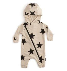 nununu Asymmetrical Zip Star Hooded Overall