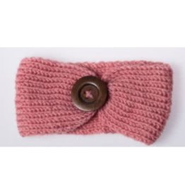 Lox Lion Knitted Winter Button Headwrap