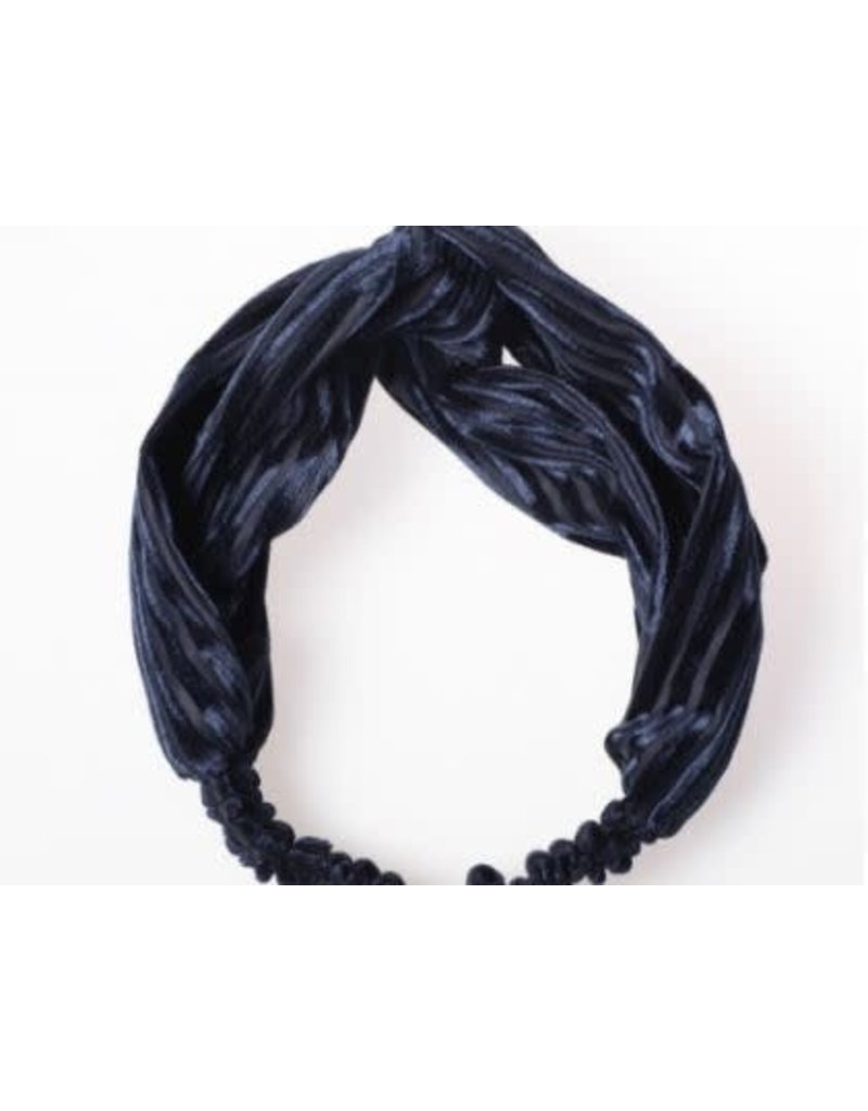 Lox Lion Knotted Twist Velvet Headband