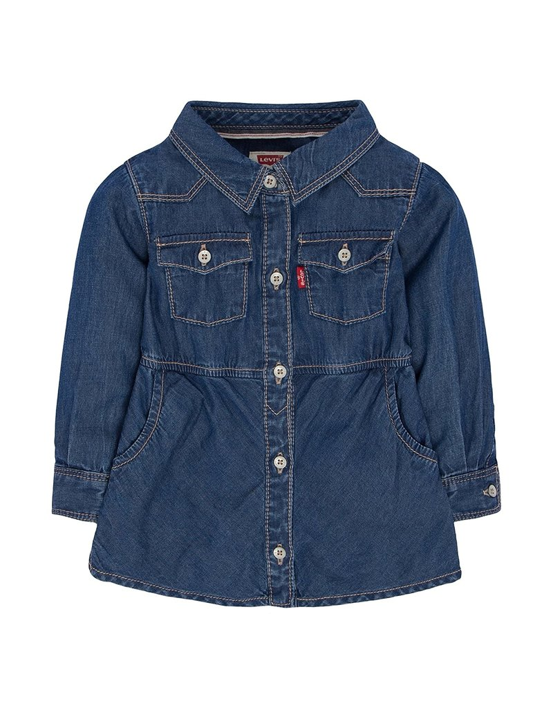 Levis Infant Long Sleeve Woven Denim Dress
