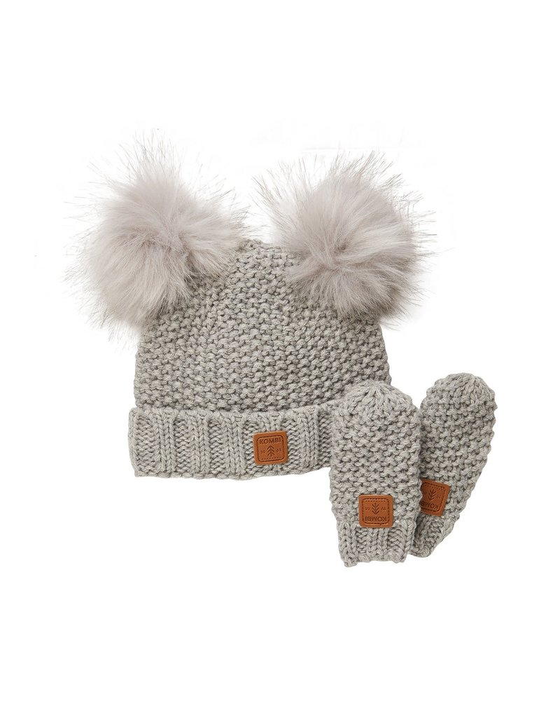 Kombi Adorable Knit Hat & Mitt Infant Set
