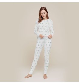 Petit Lem Women's Mistletoe PJ Set
