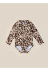 HuxBaby Animal Long Sleeve Zip Swimsuit