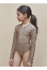 HuxBaby Animal Long Sleeve Zip Swimsuit
