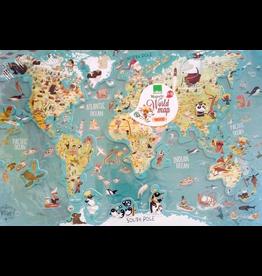 Vilac Magnetic World Map Puzzle