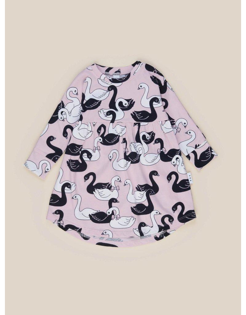 HuxBaby Swan Lake Long Sleeve Swirl Dress