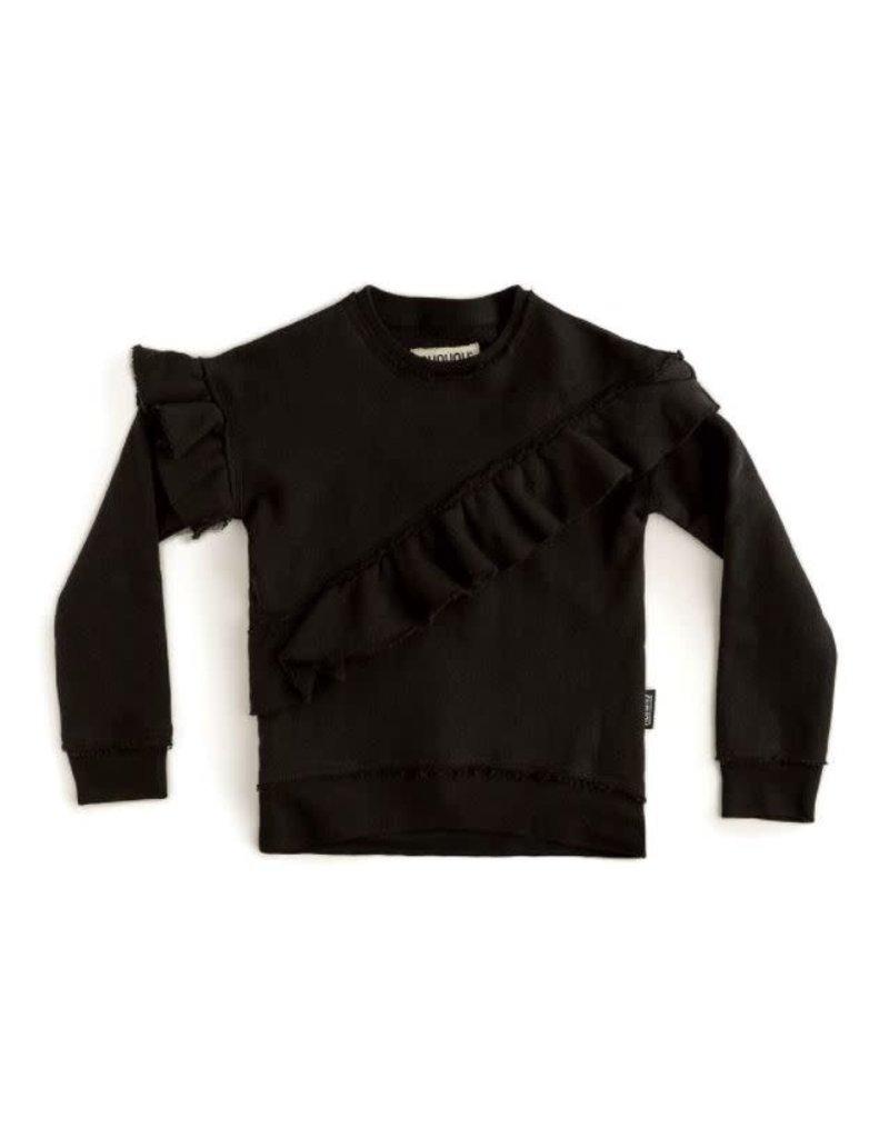 nununu Asymmetrical Ruffled Sweatshirt