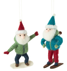 Silver Tree Felt Santa Ornaments