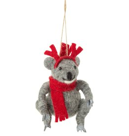 Silver Tree Felt Koala Ornament