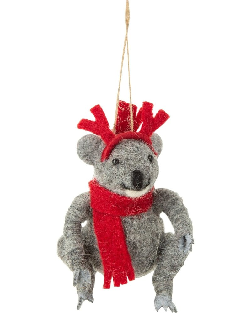 Silver Tree Felt Koala Ornament