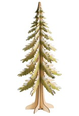 Silver Tree 3D Wood Fir Tree Table Topper