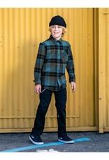 VOLCOM Big Boys Caden Plaid Long Sleeve Flannel