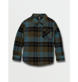 VOLCOM Little Boys Caden Plaid Long Sleeve Flannel