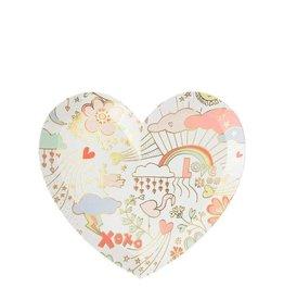 Meri Meri Valentine Doodle Plates