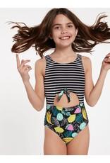 VOLCOM Big Girls Juiced One Piece Swimsuit