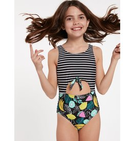 VOLCOM Big Girls Juiced One Piece Swimsuit