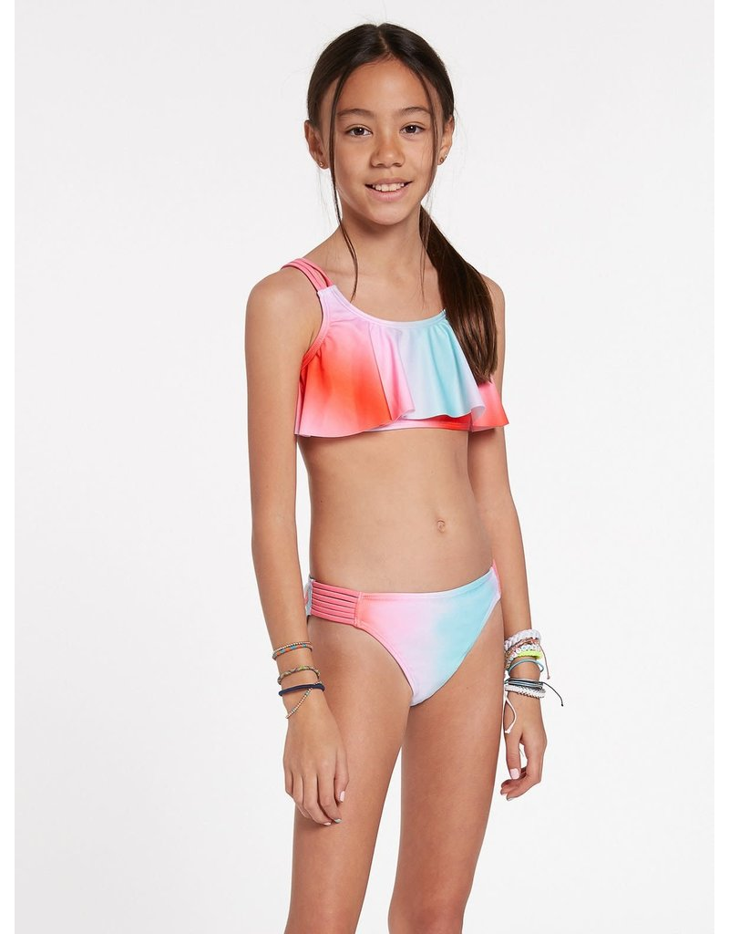 VOLCOM Big Girls Fun Dip Crop Set Swimsuit