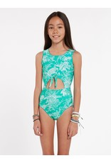 VOLCOM Big Girls Island Hop One Piece Swimsuit