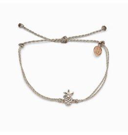 Pura Vida Bracelets Open Pineapple Charm Bracelet