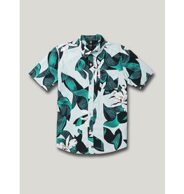 VOLCOM Big Boys Cut Out Floral Button Up Tee