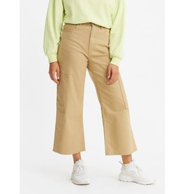 Levis Womens High Waisted Wide Leg Cropped Utility Pants