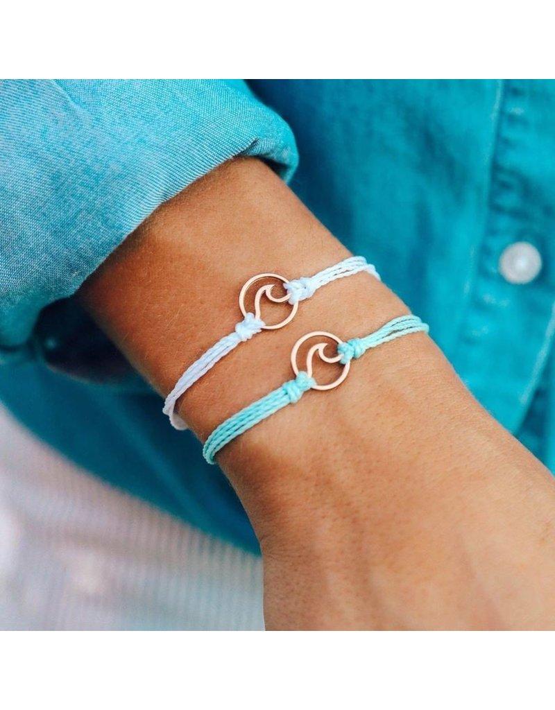 Pura Vida Bracelets Rose Gold Wave Bracelet