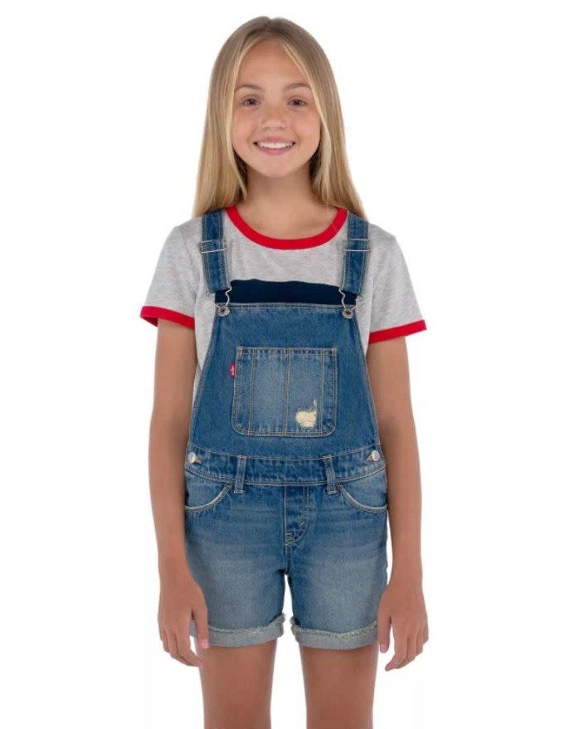 Levis Big Girls Denim Shortalls