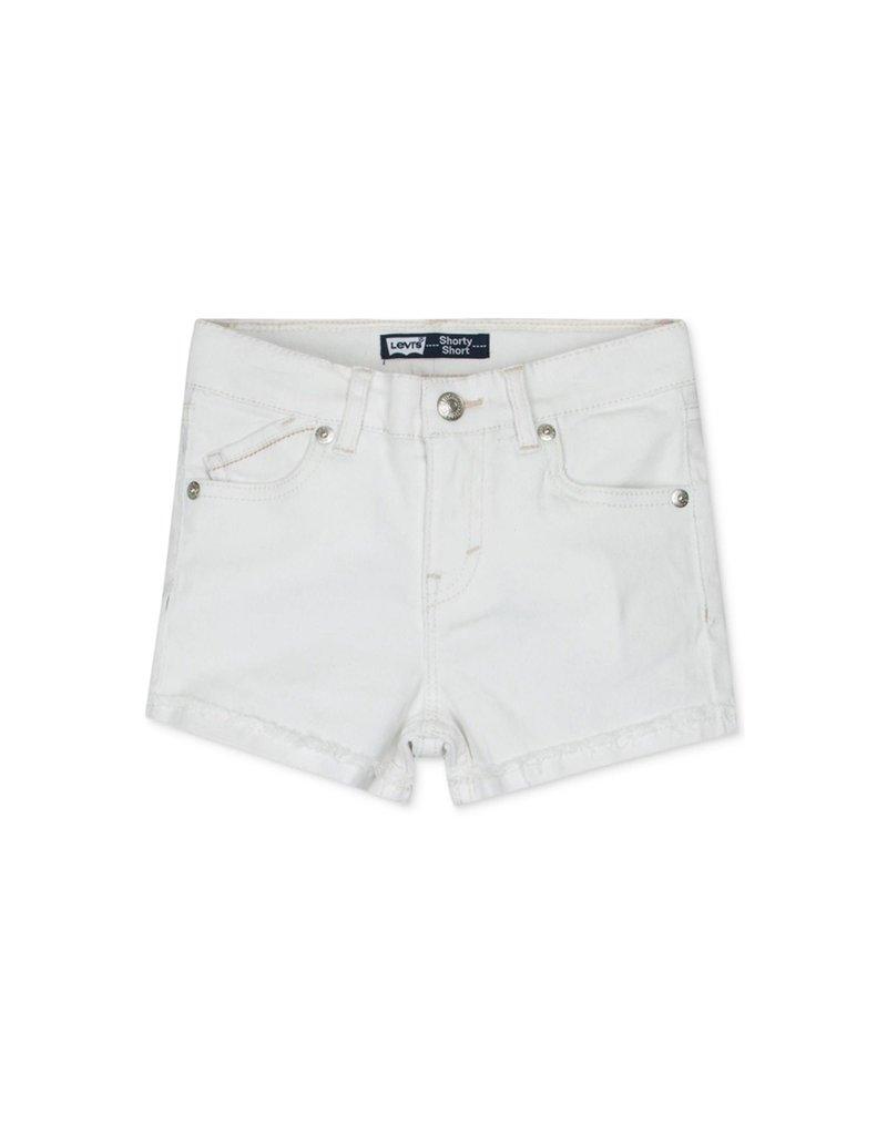 Levis Little Girls Scarlett Shorty Short White 6X