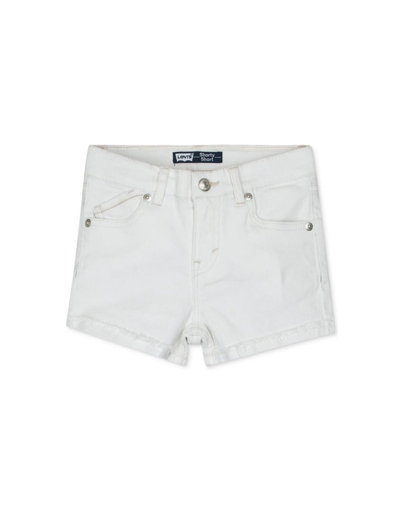 Levis Little Girls Scarlett Shorty Short White 4