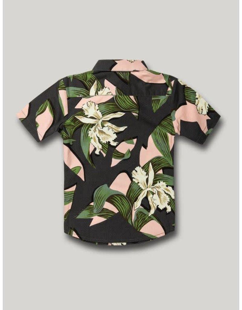 VOLCOM Little Boys Cut Out Floral Button Up Shirt
