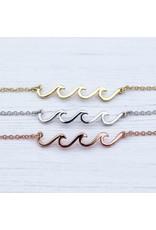 Pura Vida Bracelets Delicate Wave Anklet